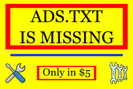 fix missing ads txt error by alihasan7671