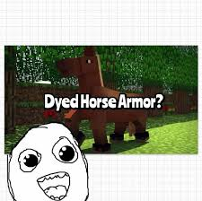 dying leather horse armor