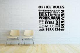 Office Rules Wall Decal Motivational Poster Office Sign Teamwork Success Quote Wall Sticker Usa
