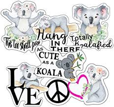 Amazon Com Koala Stickers Perfect Koala Bear Stickers Waterproof Durable 100 Vinyl Anywhere You Need Koala Stickers For Water Bottles Laptop Car Decal Party Giveaways Arts Crafts Sewing