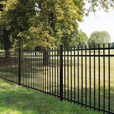 Freedom Heavy Duty Providence 5 Ft H X 8 Ft W Black Aluminum Decorative In The Metal Fence Panels Department At Lowes Com