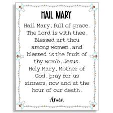 Hail Mary Poster & Worksheets | Teachers Pay Teachers