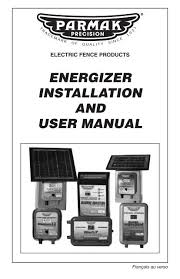 Download Energizer Installation And User Manual Parmak