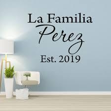 Vwaq La Familia Personalized Spanish Name Family Wall Decal Walmart Com Walmart Com