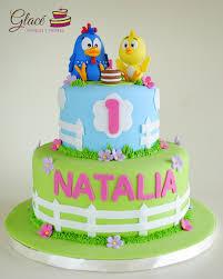 gallina pintadita pastel decorado con