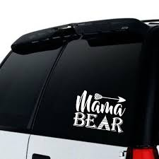 Mama Bear Car Truck Decal Moms Car Decal Top Mom Car Decal Mama Car Decal Rearing Cubs Sticker Family Life Decal Moms Decal Mom Car Mama Bear Truck Decals