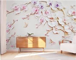 Beibehang مخصص كبير Papel دي Parede خلفيات 3d رومانسية ماغنوليا