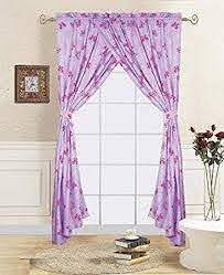 Amazon Com Sapphire Home Kids Window Curtain Panels W Tie Backs For Girls 2 Panels Butterfly Print Lavender Pink Window Curtain For Girls Kids Girls Kids Room Decor Butterfly Pink Lavender Curtains Kitchen Dining