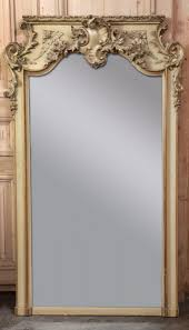 antique french louis xv painted mirror
