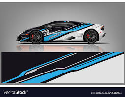 Car Decal Wrap Design Royalty Free Vector Image