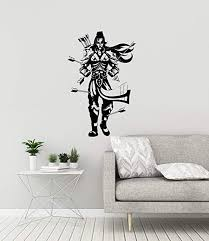 Amazon Com Lord Rama Vinyl Wall Decal Hinduism God India Room Decor Stickers Mural And Stick Wall Decals Home Kitchen