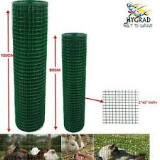 Pvc Coated Green Chicken Rabbit Wire Mesh Fence Garden Fencing Barrier 30m Long Ebay