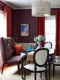 dark purple walls deep red curtains