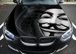 Anonymous 1 Car Hood Wrap Full Color Vinyl Sticker Decal Fit Any Car Ebay