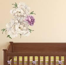 Large Wall Decal Flower Fairy Simple Art White Tree Vinyl Big Modern Peony Vamosrayos