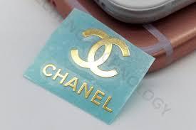 Custom Made Chanel Logo Sticker Gold Plated Metal Perfume Box Sticker
