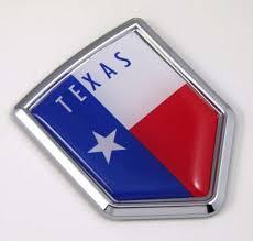 Amazon Com Texas Tx Usa State Flag Car Chrome Emblem Decal Sticker Bike Laptop Boat 3dd Sticker Badge Automotive