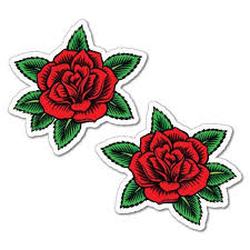 2 X Red Rose Flower Sticker Cool Tattoo Hot Skull Babes Decals Etsy