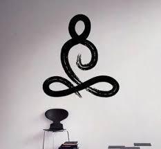 Symbole Yoga Pose Wall Vinyl Decal Yoga Studio Wall Sticker Etsy Yoga Studio Yoga Art Meditation