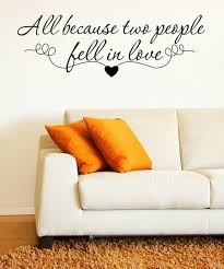 Decordesigns All Because Two People Fell In Love Quote Decal Best Price And Reviews Zulily