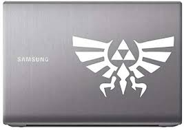 Amazon Com Hyrule Eagle Triforce Zelda White 7 Vinyl Decal Sticker For Car Automobile Window Wall Laptop Notebook Etc Any Smooth Surface Such As Windows Bumpers Home Kitchen
