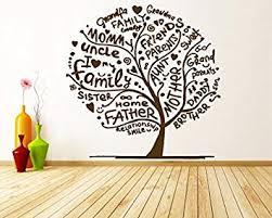 Amazon Com Wall Window Sticker Decal Family Tree Of Life Generation Roots Branches Birds Living Room Yoga Studio Decor 1187b Baby