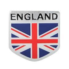 Aluminum England Uk Flag Shield Emblem Badge Car Sticker Decal Decor Universal For Truck Auto Alexnld Com