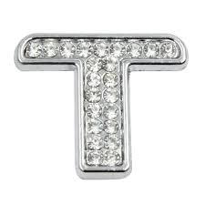 3d Silver Tone Chrome Metal Letter T Shaped Car Sticker Decal Decoration Walmart Com Walmart Com