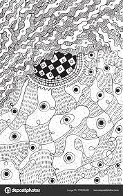 Abstracte Psychedelische Surrealistisch Doodle Pagina Kleurplaten