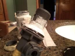 bathroom sink drain pipe washer