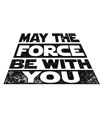 May the Force be with you Star Wars Darth Vader Print Printable Quote for  Star Wars Day! Instant Download o… | Star wars prints, Star wars drawings,  Star wars humor