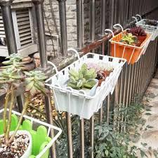 Mega Deal Dd19f Outdoor Balcony Hanging Basket Plant Flower Pot Iron Fence Plant Pot Stand Gardening Hanging Planter Decoration Garden Supplies Cicig Co