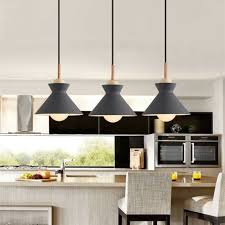 lamp bedroom wood pendant light grey