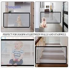 Tranquillt Pet Gate Baby Gate Safety Pets Fence Retractable Portable Folding Adjustable Mesh Dog Gate 40 4 Inch For Hall Doorways Stair Outdoor Easy To Install Black Baby Shopee Philippines