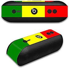 Amazon Com Skin Decal Vinyl Wrap For Beats By Dr Dre Beats Pill Plus Rasta Reggae Colors Home Audio Theater