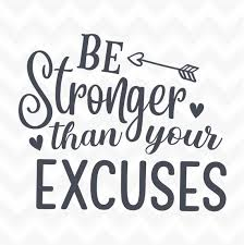 Be Stronger Than Your Excuses Vinyl Wall Sticker Words Saying Etsy