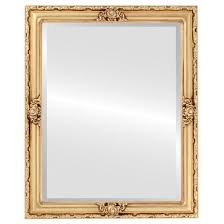 classic frame style mirror gold leaf