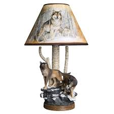 Modern Wolf Table Lamps For Living Room Animal Lamp Desk Stand Light Fixtures Kids Bedroom Bedside Standing Lighting Home Decor Led Table Lamps Aliexpress