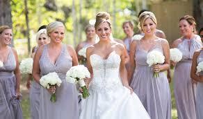 bride and bridesmaids fashion dresses