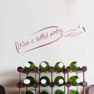 Wine Quote Wall Decals Personalized Bar Signs Home Bar Decor Ideas
