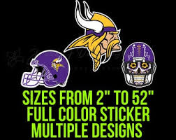 Minnesota Vikings Decal Etsy