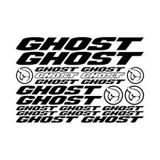 Ghost Bicycles Bikes Logo Sheet Vinyl Decal Sticker