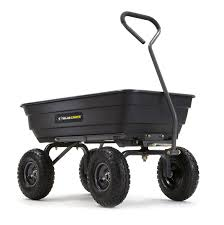 gor4ps 600 lb steel garden dump cart