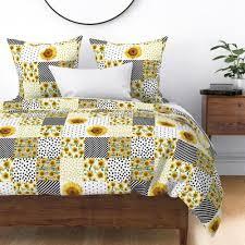 sunflower quilt 6 squares nursery