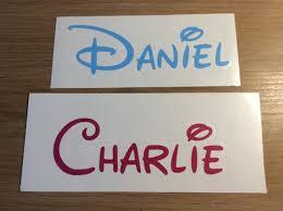 Disney Style Name Declal Vinyl Stickers Etsy