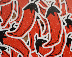 Chili Pepper Decal Etsy