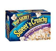 pop secret sweet n crunchy kettlecorn