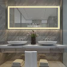 illuminated bathroom lighted mirrors