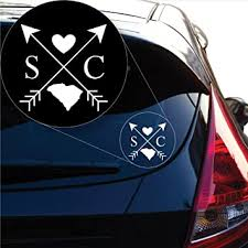 Amazon Com Yoonek Graphics South Carolina Love Cross Arrow State Sc Decal Sticker For Car Window Laptop And More 1105 6 X 6 White Automotive