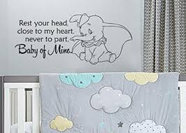 Dumbo Baby Mine For Nursery Or Children S Room Wall Decal Sticker 28 8 Lucky Girl Decals